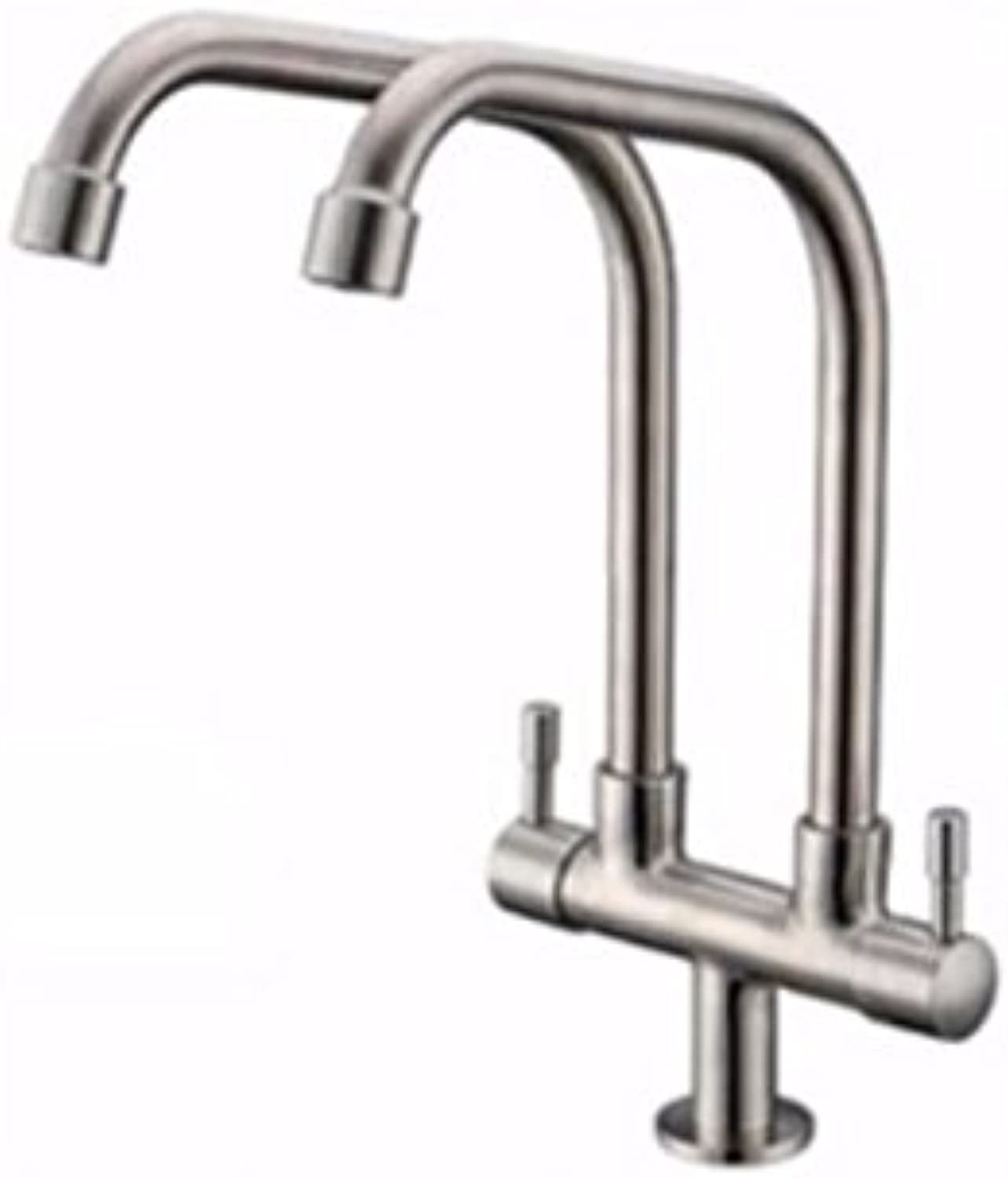 Commercial Single Lever Pull Down Kitchen Sink Faucet Brass Constructed Polished Stainless Steel Faucet, Single Cold Faucet, Single Kitchen Faucet