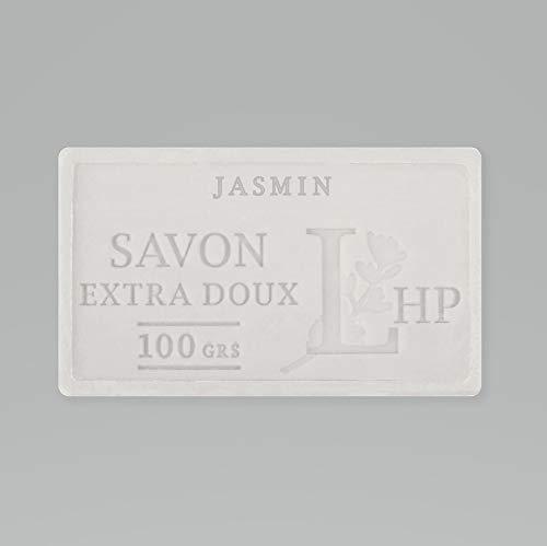 PRODUIT DE PROVENCE - JASMIN - SAVON DE MARSEILLE EXTRA DOUX 100 G - DÉLICAT PARFUM NATUREL DE JASMIN - GARANTI SANS PARABEN