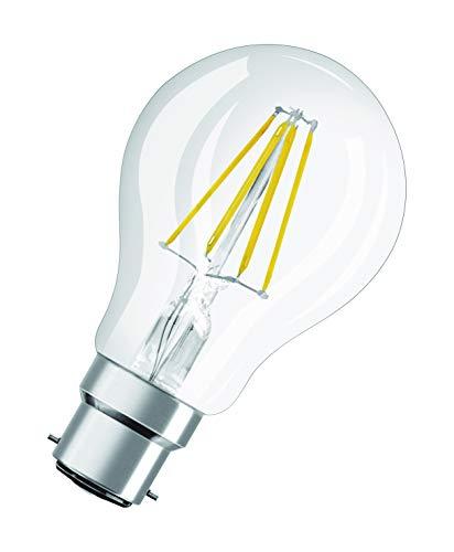 OSRAM Lot de 10 Ampoules LED   Culot B22   Blanc chaud   2700 K   4 W équivalent 40 W   clair   LED Retrofit   Forme Standard