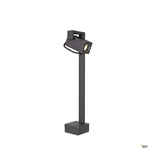 SLV Stehleuchte THEO BRACKET 50 FL / Außen-Beleuchtung für Wege, Wände, Eingänge, LED Outdoor Garten-Lampe / GU10 IP65 7W anthrazit Aluminium