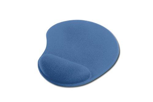 ednet 64218, Mauspad mit Handballenauflage, Polyester + PU + PU Gel, 225 x 180 x 3 mm, Farbe: blau