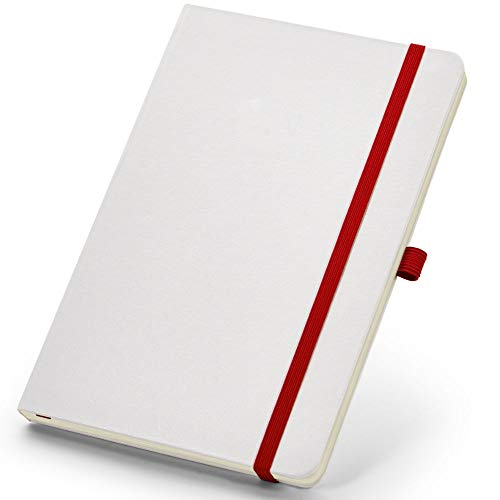 Caderneta de Anotações 13,7x21cm 80 Folhas Sem Pauta Branco e Vermelho