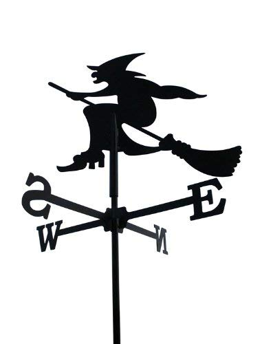Svenska Wetterfahne Windfahne Windspiel Hexe schwarz aus Stahl klein Höhe 71 cm