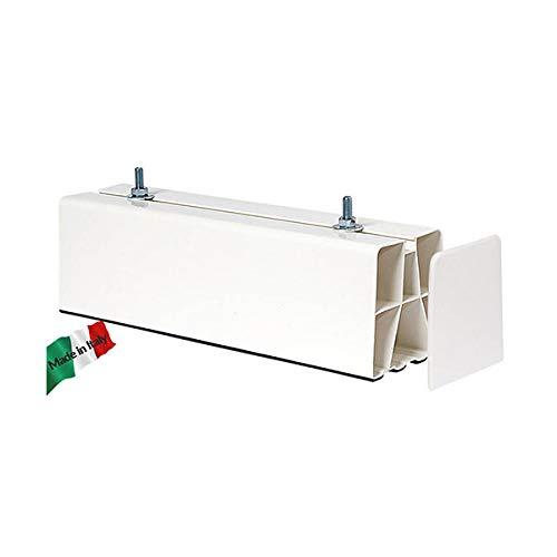 BASE A PAVIMENTO BIANCA BIESTRUSA + TAPPI 450 mm 2 PZ vecamco, per installazione condizionatore climatizzatore