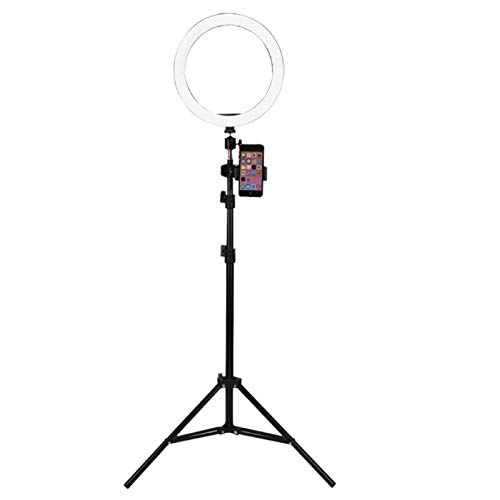 Xpork 26 Cm LED Ring Light Ring Dimming Light With Bracket For Photo Studio Makeup Video Phone Selfie Dimmable Desktop Makeup Ring Light For Photography