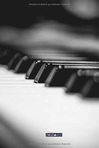Blanko Notizbuch - Klavier: in DIN A5 Softcover | Notizbuch mit persönlichem Register + Seitenzahlen | Tagebuch, Skizzenbuch, Blankobuch, Malbuch, Notizheft zum Selbstgestalten