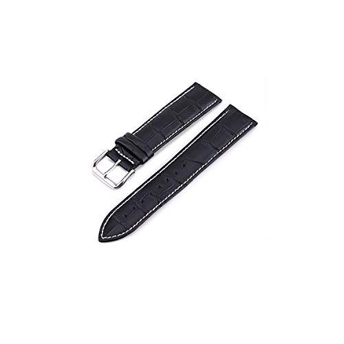 Cuoio del cinturino cinghie 10 24mm Guarda Accessori Marrone Colori cinturini, Linea Bianco e nero, 20mm