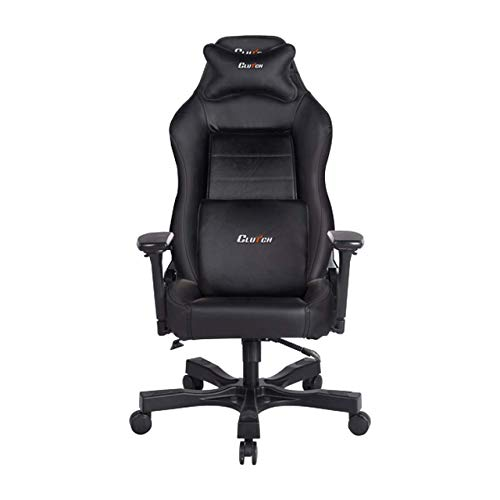 Clutch Chairz - Ergonomic Gaming Chair, Video Game Chairs, Office Chair, High Chair and Lumbar Pillow for Computer Desk - Black - Shift Series