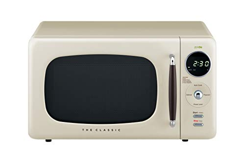 WINIA WOR07R3ZEC Retro Countertop Microwave Oven, 0.7 Cu. Ft, Cream