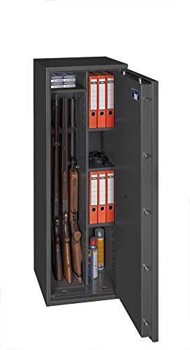 Waffenschrank Gun Safe 1 1-4 Kombi mit Zahlenschloss EN 1143-1 Klasse1 Regalteil und 4 Waffenhalter