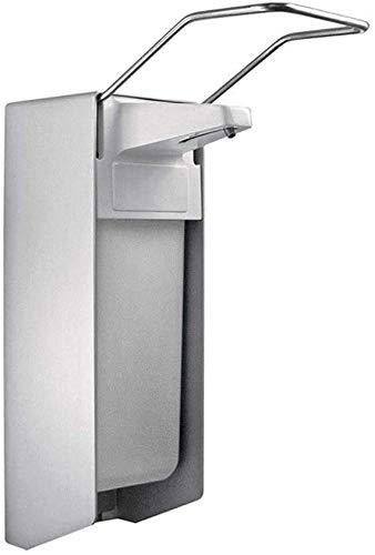 Wandspender aus Aluminium Ausführung 500ml, inkl. Edelstahlpumpe, Universalspender, Seifen- und Desinfektionsspender der Firma (1)