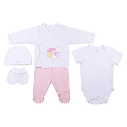 Sevira Kids - Coffret naissance en 100% coton bio - vêtements Bébé 5 pièces - Dreams