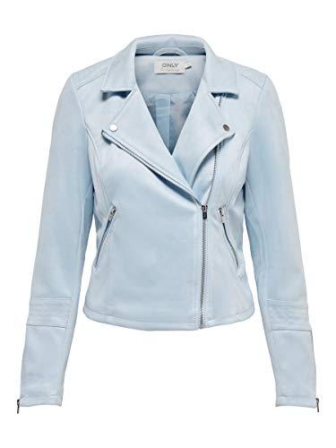 ONLY Female Jacke Wildlederimitat Biker 40Cashmere Blue