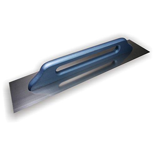 DEWEPRO® Schweizer Glättekelle - Glättkelle - Aufziehplatte - Aufziehglätte - Traufel - Edelstahl 680x130mm - Zahnglättekelle