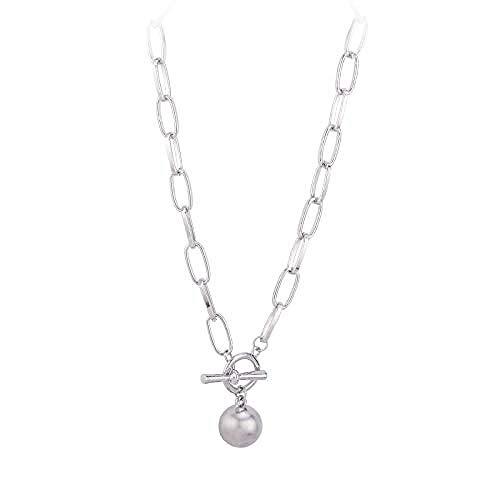 JSYHXYK Collar Anillo Hebilla Collar Cadena De Clavícula Femenina