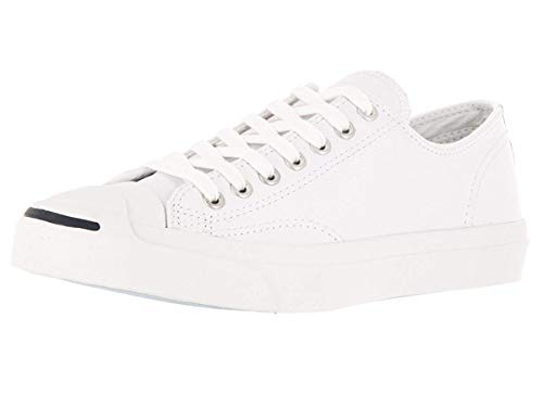 Converse Jack Purcell Synthetic Leather White Shoes Unisex Shoes Men/Women (4.5 Men/ 6.0 Women)