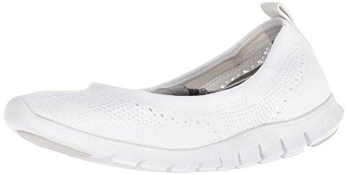 Cole Haan Damen Ballerina-Flache Zerogrand Stitchlite, Weiá (Optic White Knit/Optic White), 38.5 EU