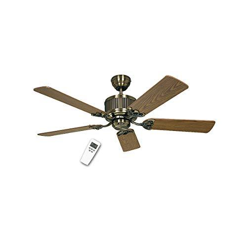 CasaFan Deckenventilator ECO ELEMENTS - Rotorblatt-Ø 1320 mm - Messing antik - Deckenventilator Deckenventilatoren Ventilator Ventilatoren