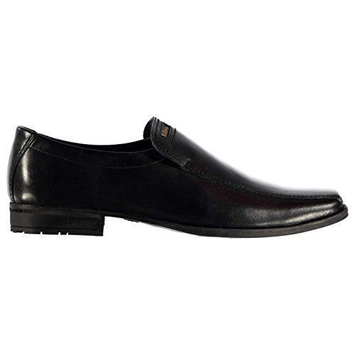 Ben Sherman Dexy Kinder Schuhe Elegant Leder Slipper Slip On Halbschuhe Schwarz 4 (37)