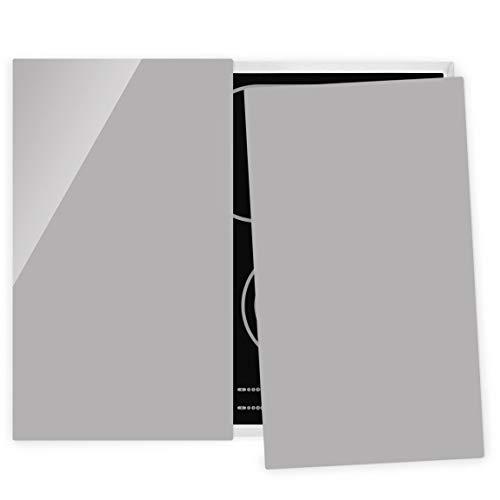 Bilderwelten Couvre Plaque de Cuisson à Induction vitrocéramique - Agate Gray 52 x 60 cm