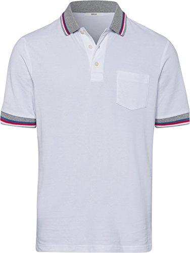 BRAX Herren Style Pino Poloshirt, White, X-Large