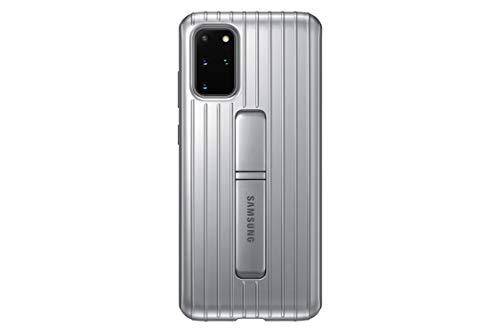 Samsung Protective Standing Smartphone Cover EF-RG985 für Galaxy S20+ | S20+ 5G Handy-Hülle, Schutz, ausklappbarer Standfuß, griffige Oberfläche, silber - 6.7 Zoll
