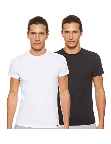Lee Twin Pack Crew Camiseta, Multicolor (2 Pack Mix Aikw), Small 2 para Hombre
