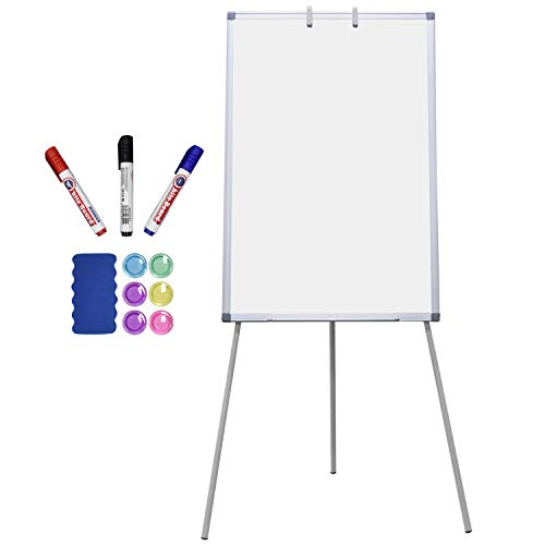 Magnetic Dry Erase Board with Stand 36 x 24 inch Easel White Boards for Kids Classroom Office Portable Height Adjustable with Flipchart Hook, White