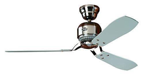 Hunter INDUSTRIE II fan in geborsteld chroom