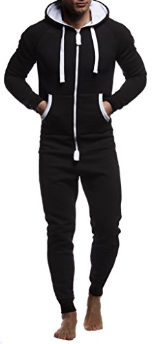 Leif Nelson heren jumpsuit Onesie trainingspak joggingbroek fitness kleding LN8154