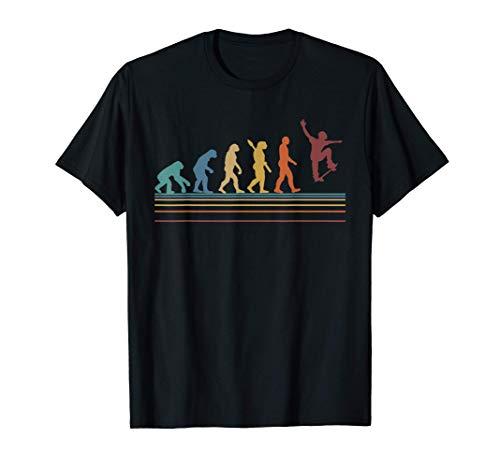 Skateboarding Skater Regalo Born To Skate Evolución Camiseta
