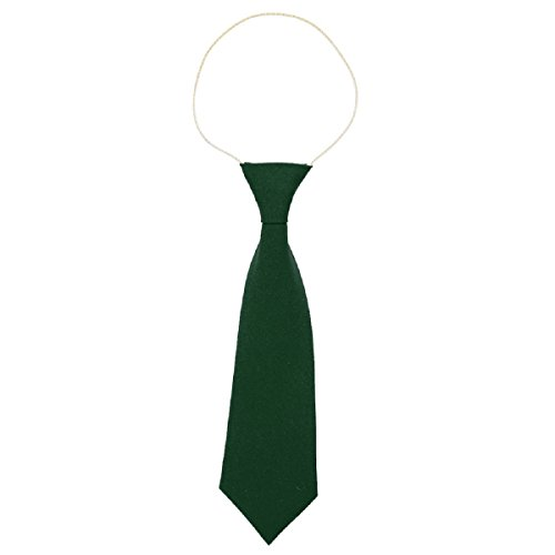 Cravate d'école élastique - Convient pour l'école maternelle/primaire - Vert - taille unique