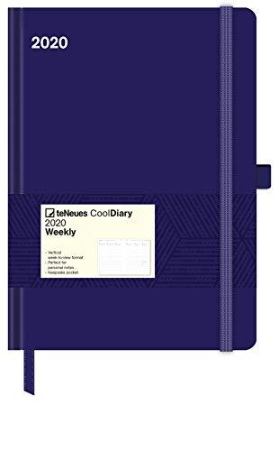 Cool Diary Blue/Geometric Blue 2020 - Weekly Planner - 16x22cm - Buchkalender - Taschenkalender - Wochenübersicht
