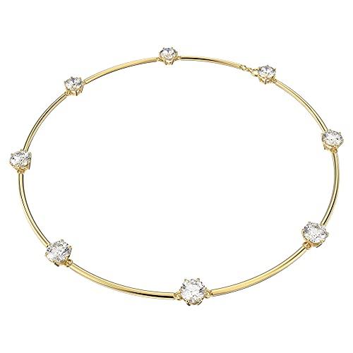 Swarovski Collar Constella, blanco, chapado en oro
