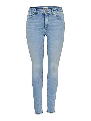 ONLY Damen Skinny Fit Jeans ONLBlush Mid Ankle M32Light Blue Denim