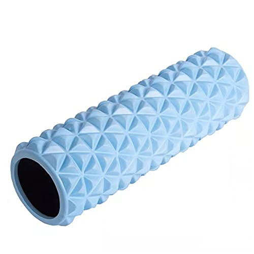 Rodillos de Espuma Fitness Punto Gatillo para Masaje Tejidos Profundos Columna Yoga Relajación Muscular Liberación del Miofascial,Azul,45x14cm