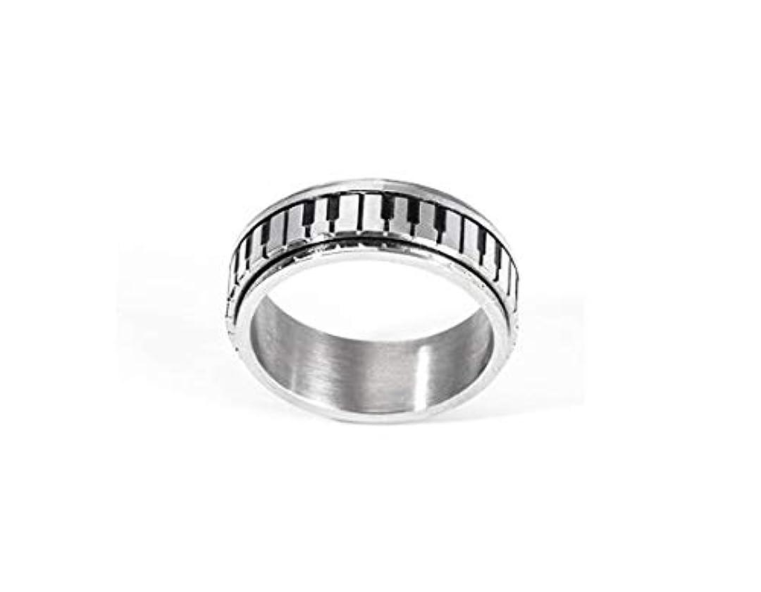 アプライアンス奪う決めます男性と女性の銅リング、ファッション人格ピアノキーチタン鋼リング、カップルリングギフト (Design : 8#)
