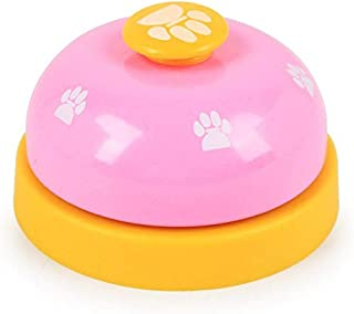 DORLIONA 2018 New Pet Dog Toy Training Called Dinner Small Bell Footprint Ring Puppy Toys for Teddy Puppy : Rose red, only