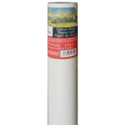 Canson Canva Paper Roll for Craftwork, Bleed-Proof Canvas Like Texture for Oil or Acrylic Paint, 136 Pound, 48 Inch x 10 Yard Roll