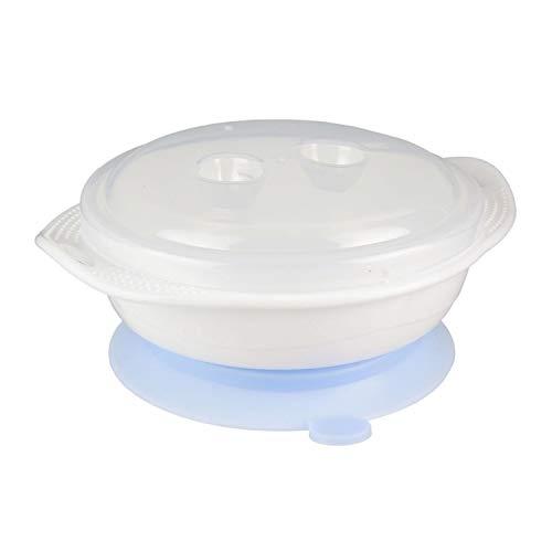 Cuenco con ventosa para bebé, 13,5 x 15 cm, color azul
