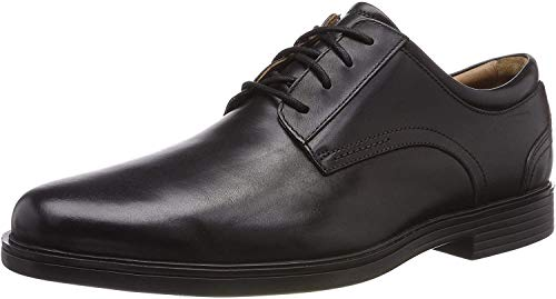 Clarks Men's Un Aldric Lace Derbys, Schwarz (Black Leather), 44.5 EU