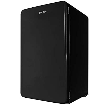 Northair Retro Style Top-Freezer Refrigerator with 3.2 cu. ft. Capacity, Fast-Freezing Compact Single Door Refrigerator Freezer Energy Star with Adjustable Glass Shelves