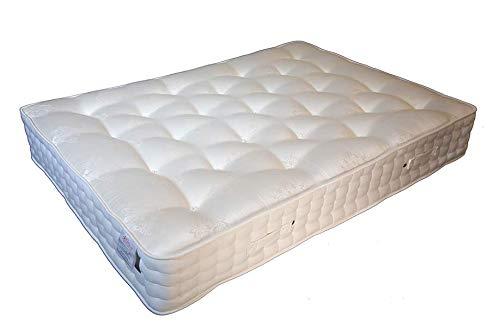 Laywell Beds Amor Micro Pocket 3000 - Materasso Trapuntato a Mano con Materiali biologici certificati al 100% e Materasso Anallergico Matrimoniale