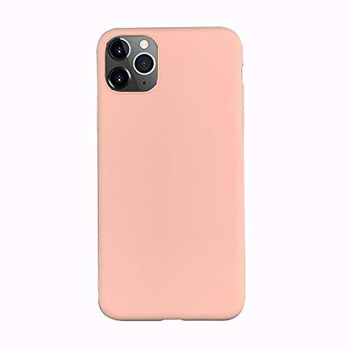 LIMITED Caja De Color Caramelo De Lente Totalmente Protegida para iPhone 11 XR X XS 11Pro MAX 7 6 6S 8 Plus Parejas Funda De Silicona De Color Sólido (Rosa,For iPhone 7 Plus)