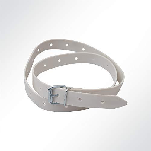 LYSEL® Schnallriemen mit Rollschnalle für Planen Grau, Länge 200mm
