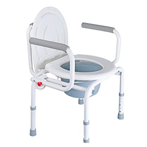 Z-SEAT Bedside Commodes Bedroom Commode Old Man's Chair Klappstuhl Haushaltstoilette Wasserdichter Rutschfester Duschstuhl