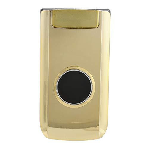 PUSOKEI X6 2.4in 240x320 Screen Flip Phone, teléfono móvil portátil con batería de 3800 mAh 32 MB + 32 MB de Doble Modo de Espera, para Personas Mayores y niños (Dorado)(Oro)