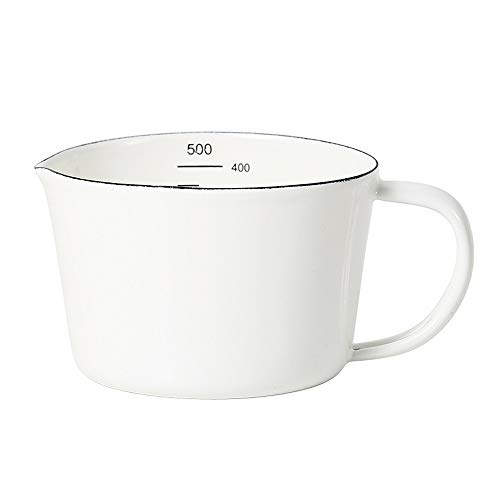 Emaille Messbecher Retro Kleiner Emailliert Behälter Messkanne Measuring Cup 0,5 Liter/ 1 Liter