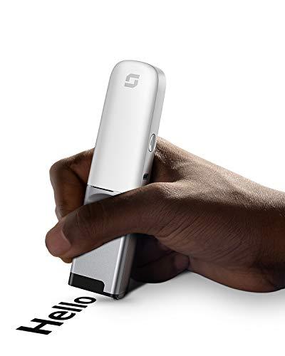 Selpic P1 tragbarer und der kleinste Mini Wireless Inkjet Handdrucker, nur 92 Gramm mit 300 Düsen, 600 x 600 DPI, für Text/QR Code/Tattoo/Signatur/Etikett, kostenlos APP Druckinhalte bearbeiten