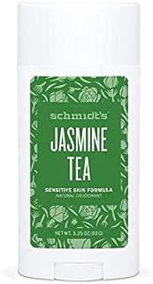 Schmidt's Natural Deodorant for Sensitive Skin, Jasmine Tea, Stick for Women and Men, 3.25 Ounce